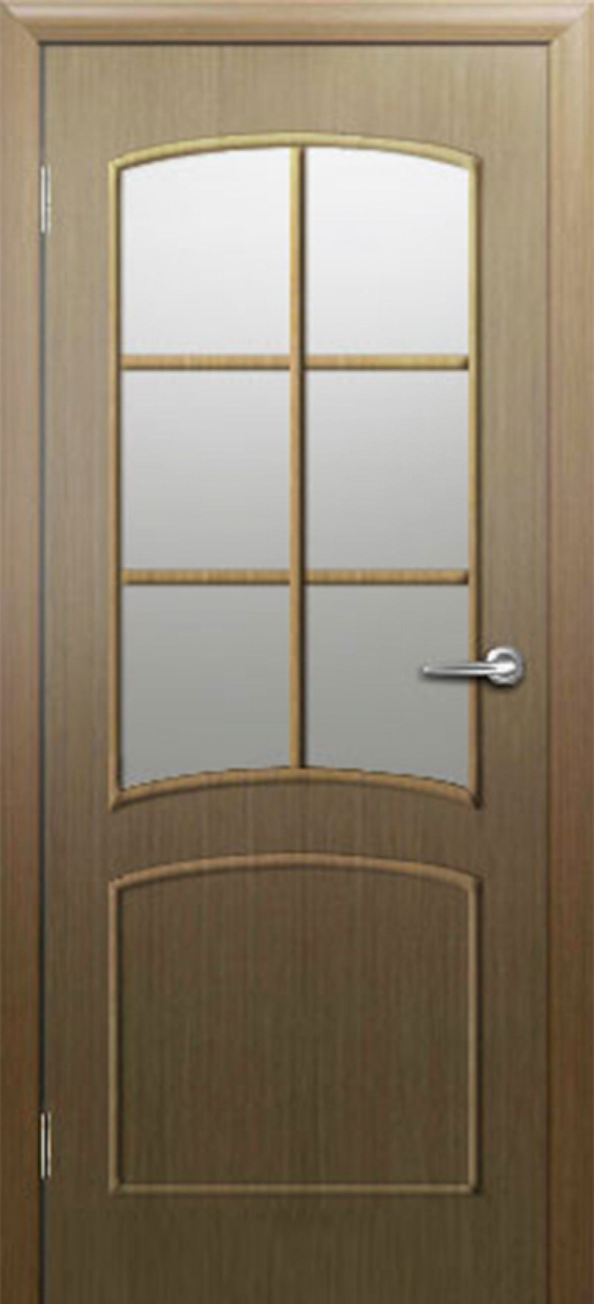 Ламинированная дверь Дверона Соренто 6 Дуб стекло Морган 2000x600 (ПОСЛЕДНИЙ РАЗМЕР ПО АКЦИИ)