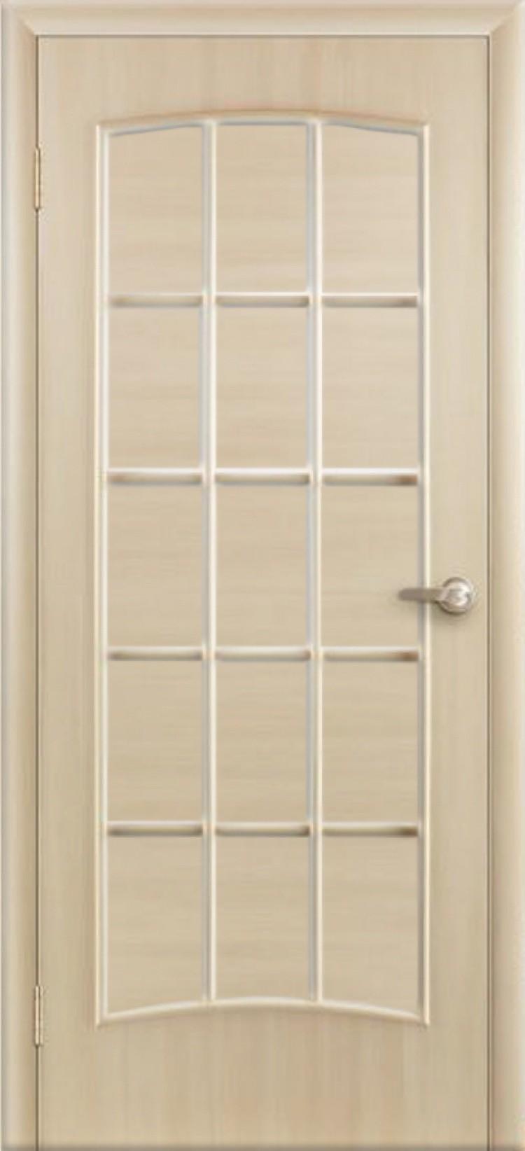Ламинированная дверь Дверона Кантри Беленый дуб ДГ 6 вставка 2000x600 (ПОСЛЕДНИЙ РАЗМЕР ПО АКЦИИ)