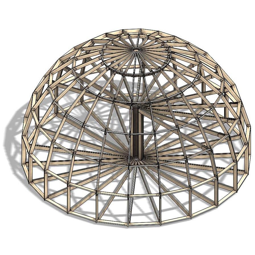 Каркас купольного дома Добросфера модель Z12