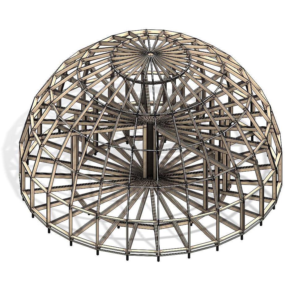 Каркас купольного дома Добросфера модель Z14