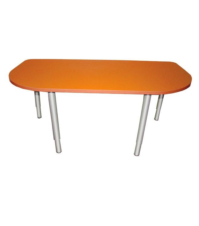 Стол детский РОССНАБСБЫТ закругленный регулируемый Оранжевый