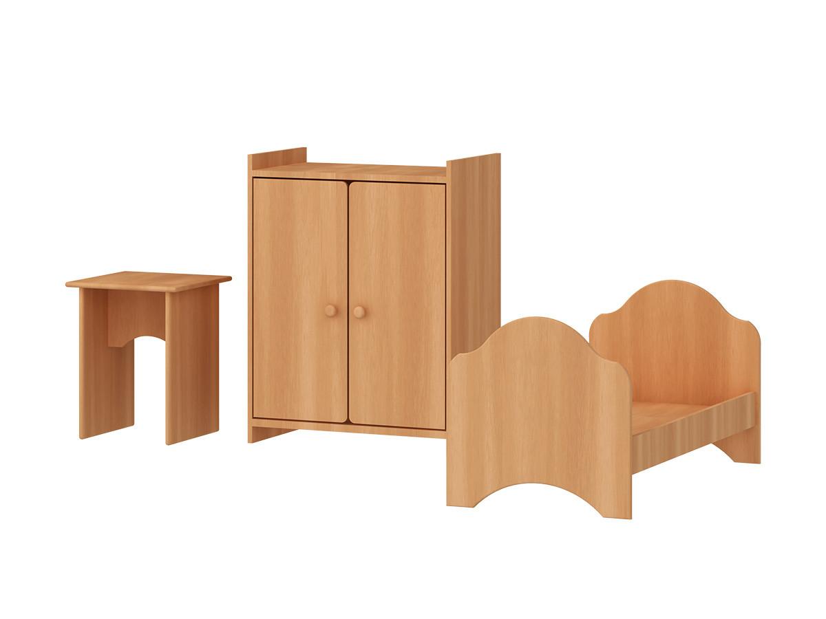 Набор кукольной мебели РОССНАБСБЫТ 3 предмета