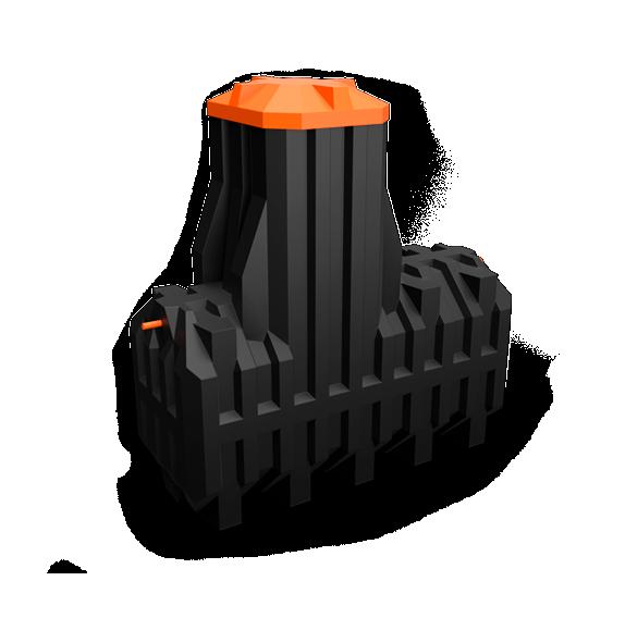 Автономная канализация Ergobox 4 PR в комплекте с сигнализацией