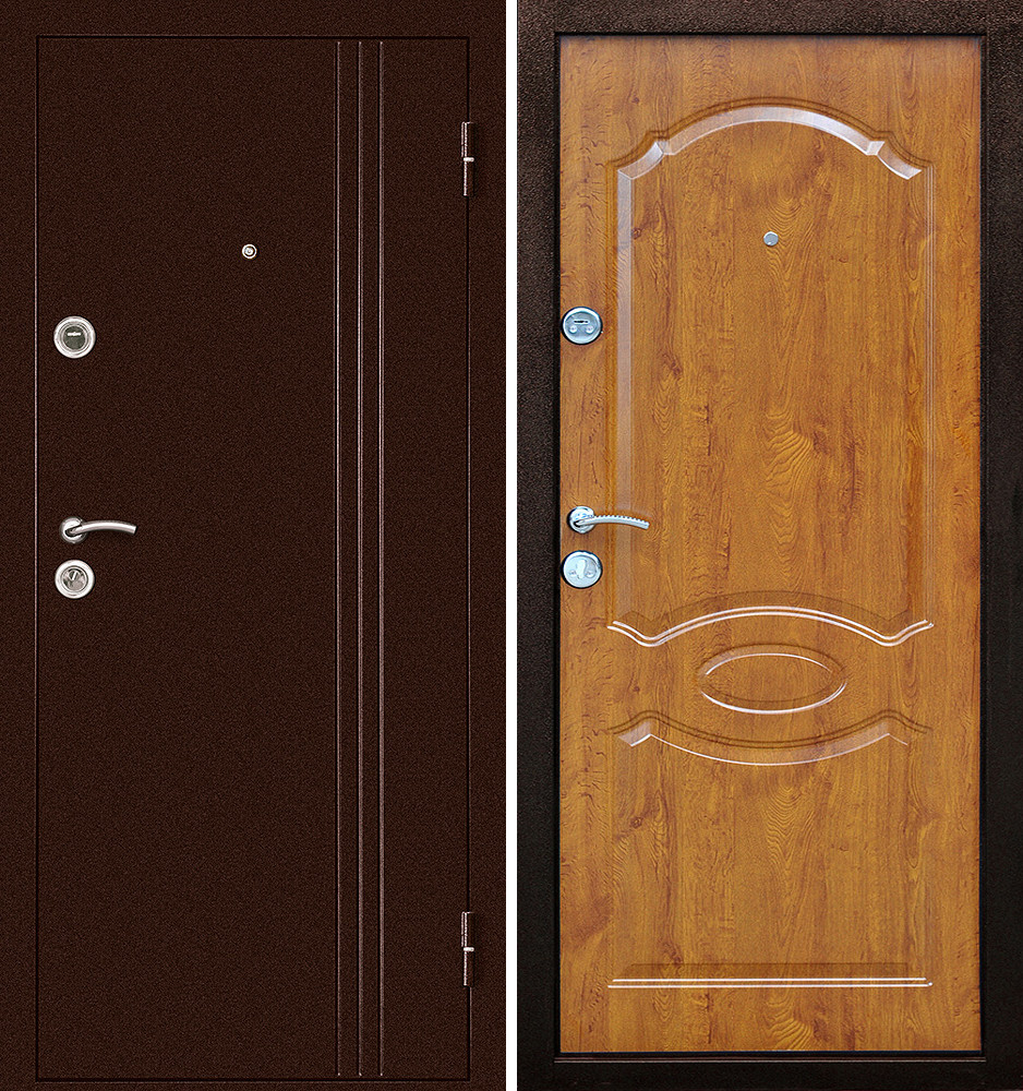 Сейф-дверь Дверной Континент Эконом Экстра Золотой дуб