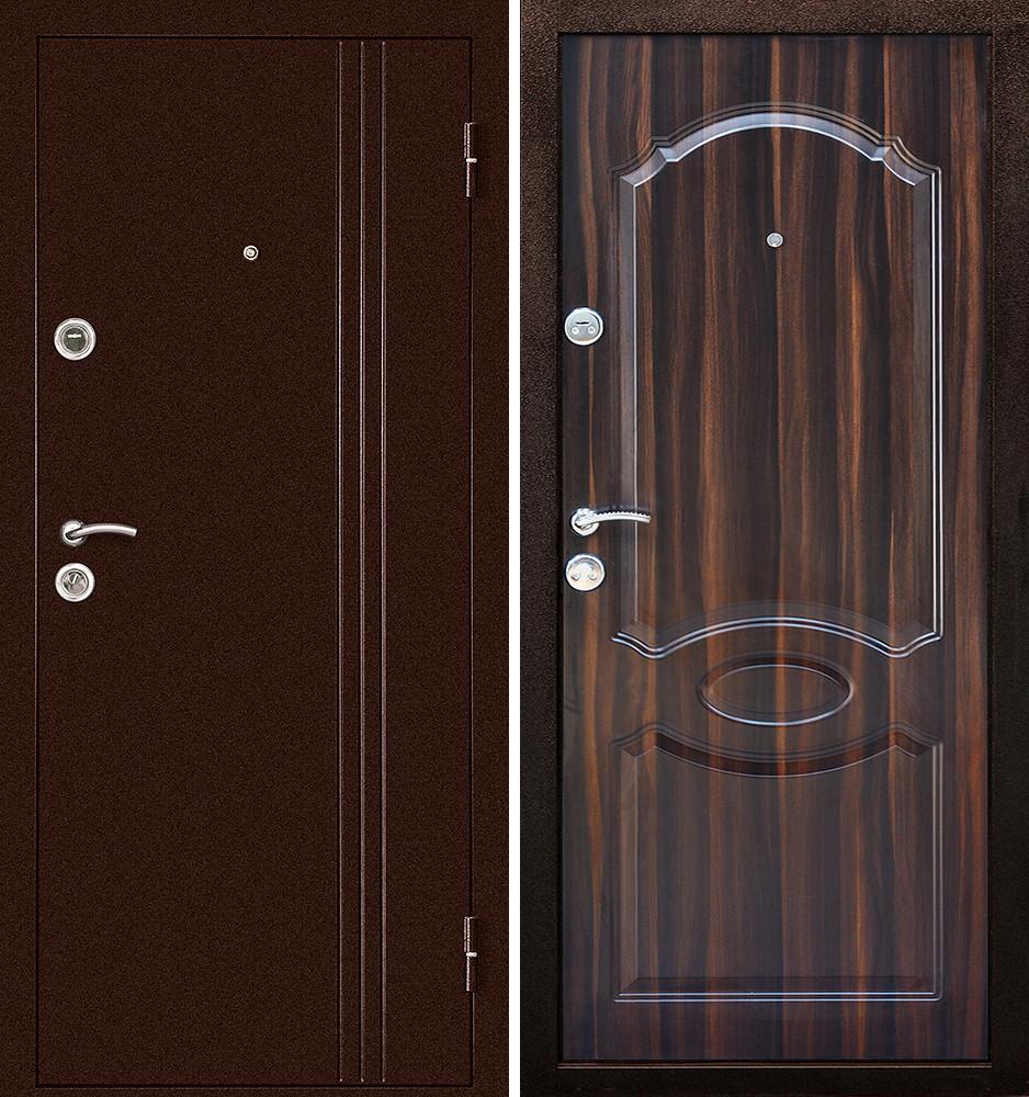 Сейф-дверь Дверной Континент Эконом Экстра Темный орех