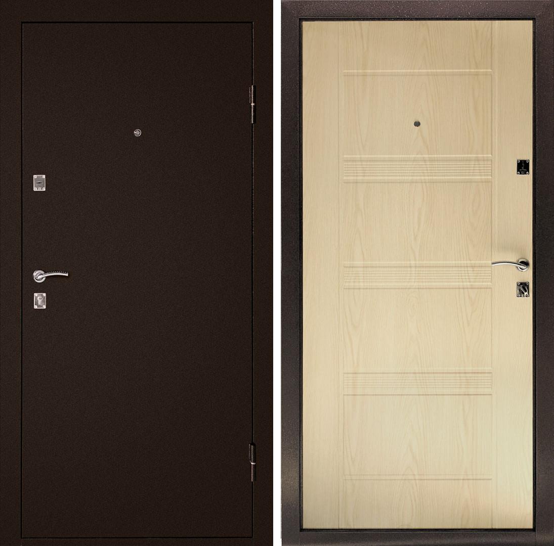 Сейф-дверь Дверной Континент Эконом Комфорт Беленый дуб