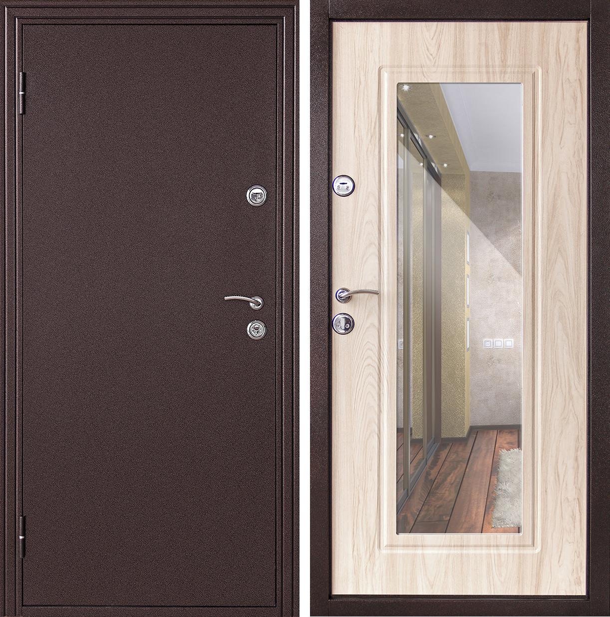 Сейф-дверь Дверной Континент Эконом Элегия Беленый дуб