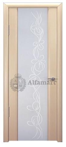 Межкомнатная шпонированная дверь Ареал Модерн М1 ДО Выбеленный Дуб 2000x600 (ПОСЛЕДНИЙ РАЗМЕР ПО АКЦИИ)