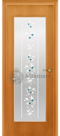 Ламинированная дверь Восход Портал Миланский орех ДО Ландыши 2000x600 (ПОСЛЕДНИЙ РАЗМЕР ПО АКЦИИ)
