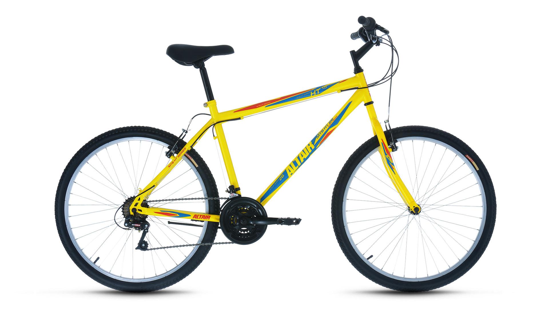 """Горный велосипед Altair MTB HT 1.0 2017 рама 17"""" желтый"""