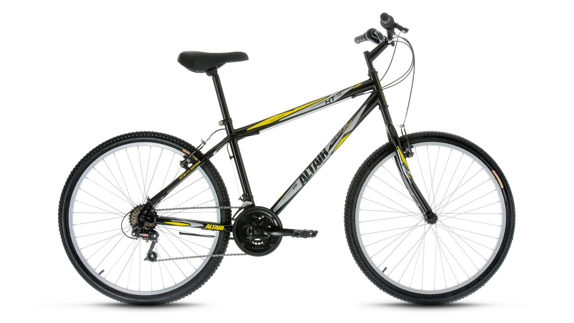 "Горный велосипед Altair MTB HT 1.0 2017 рама 17"" черный"