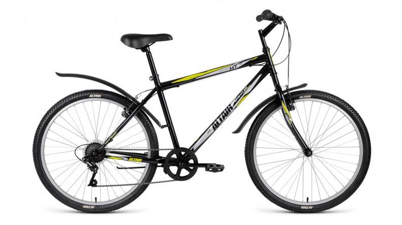 "Горный велосипед Altair MTB HT 1.0 2018 рама 19"" черный"
