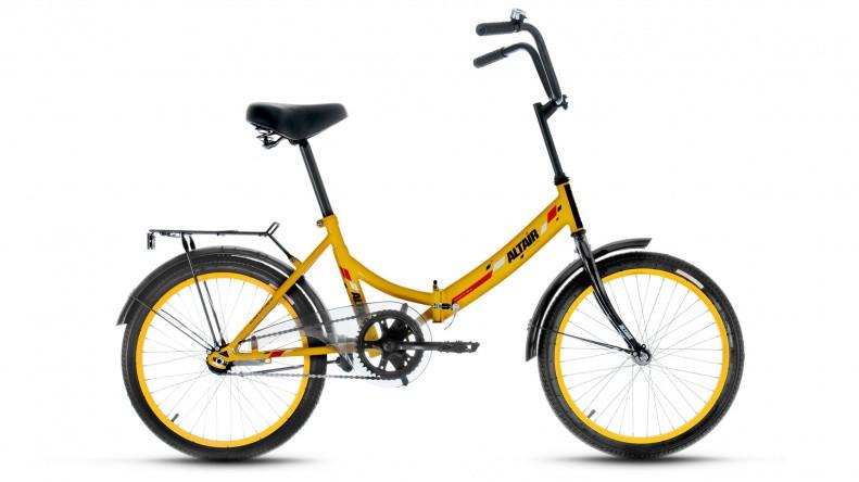 Складной велосипед Altair City 2017 желтый