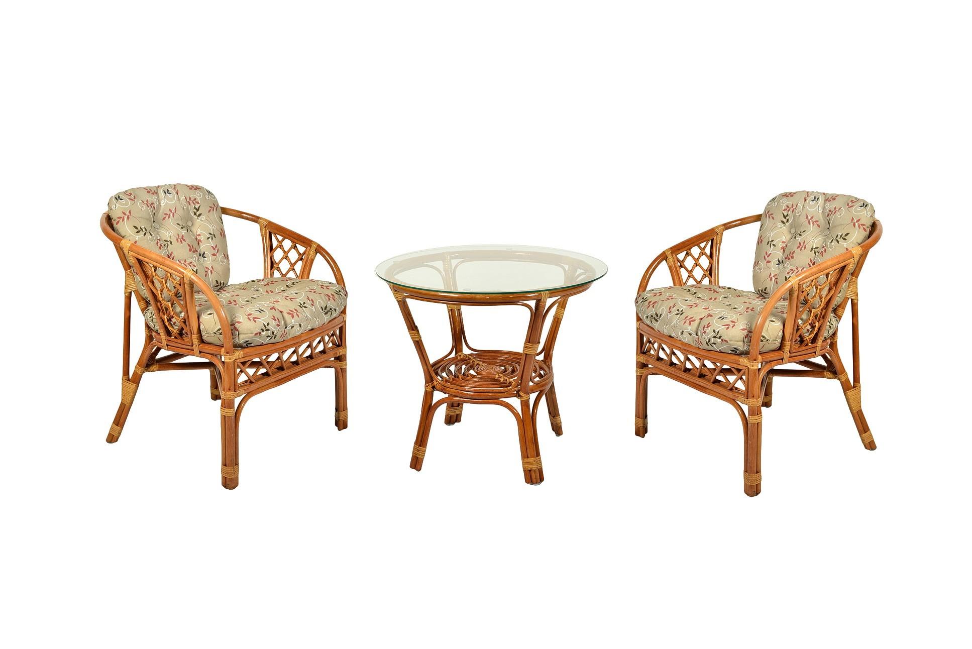 Кофейный комплект из ротанга GIKU Аркадиа DH (стол журнальный и 2 кресла)