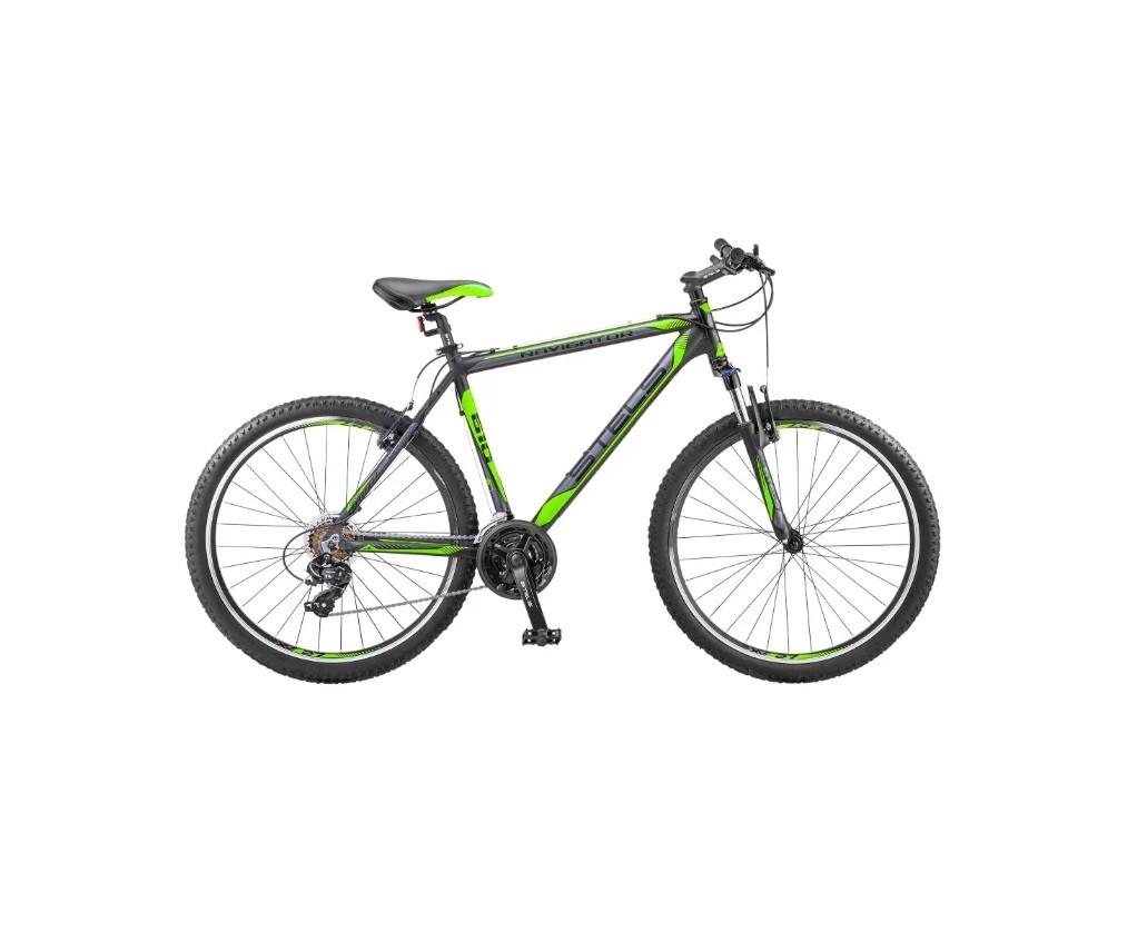 "Горный велосипед Stels Navigator-610V 2017 V030 рама 16"" черный/салатовый"