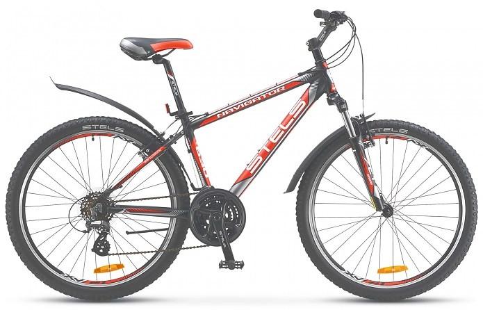 """Горный велосипед Stels Navigator-630V 2016 V010 рама 15,5"""" черный/серебристый/красный"""