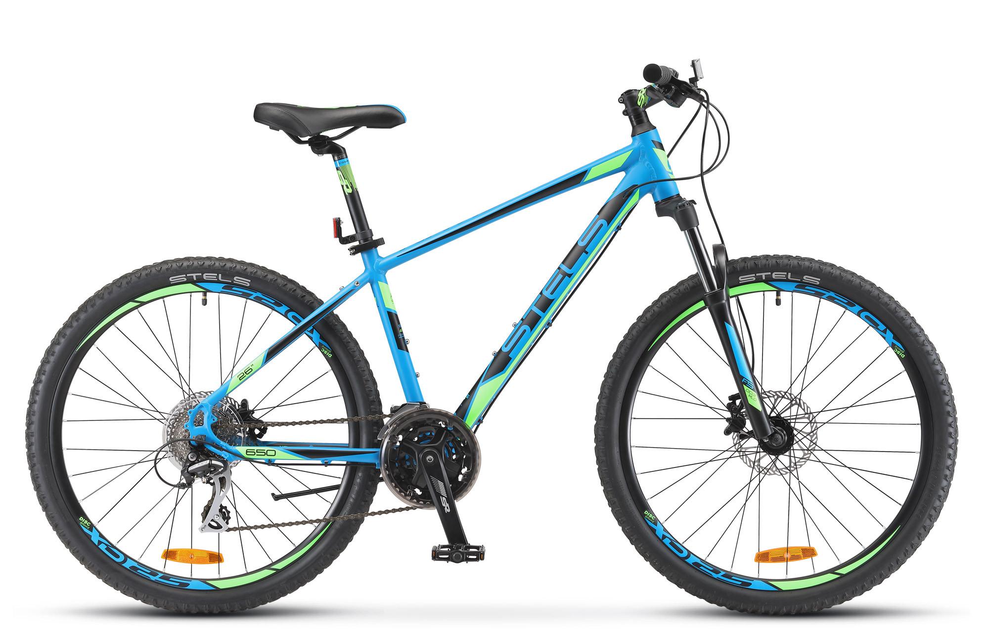 """Горный велосипед Stels Navigator-650D 2018 V010 рама 16"""" синий"""