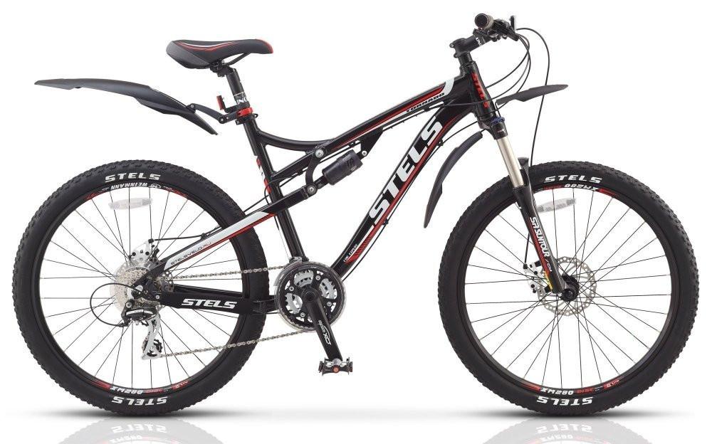 """Двухподвесный велосипед Stels Tornado MD 2015 рама 17"""" черный/красный/белый"""
