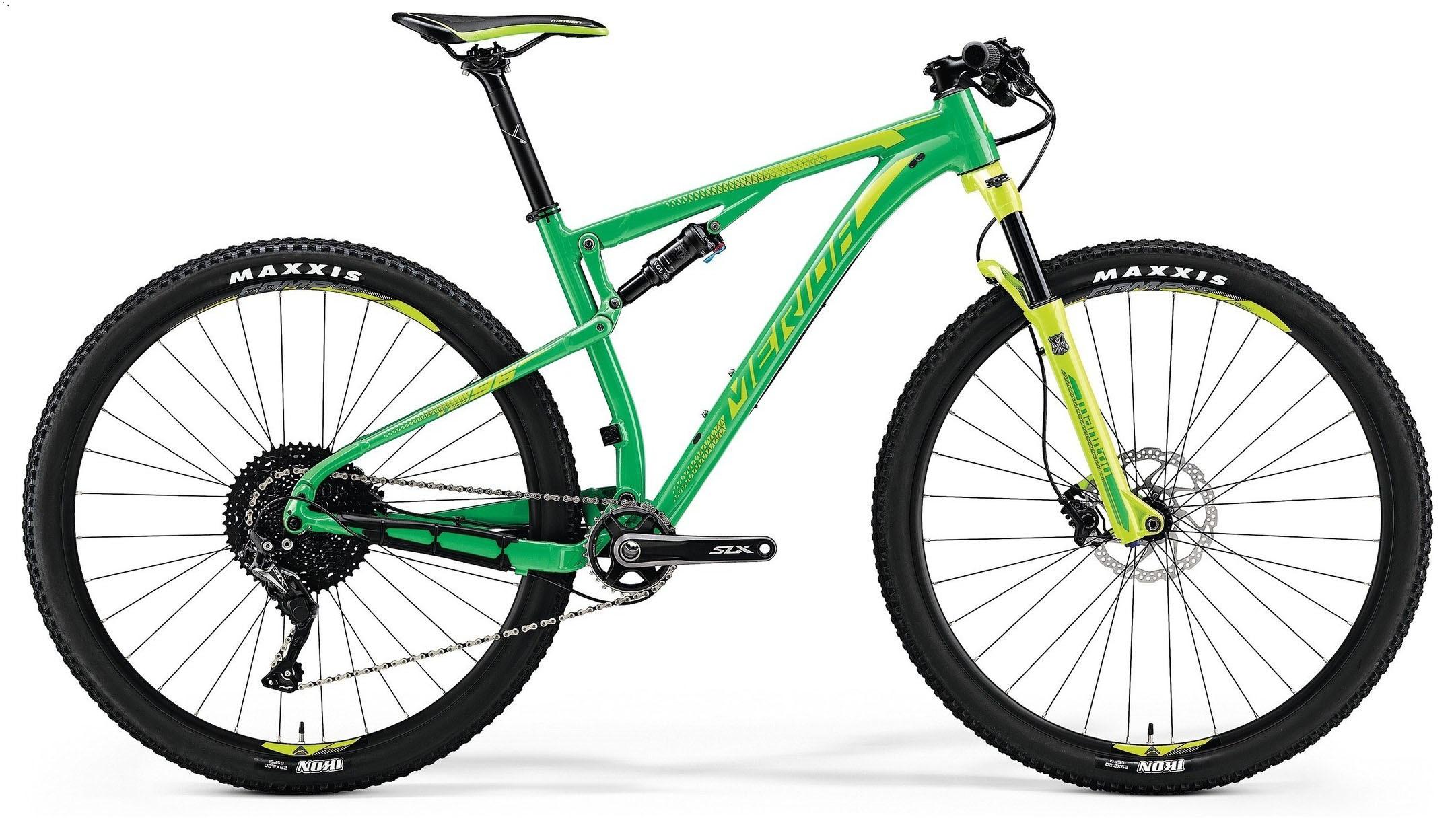 "Двухподвесный велосипед Merida Ninety-Six 7.600 2018 рама 16"" green/lite green"