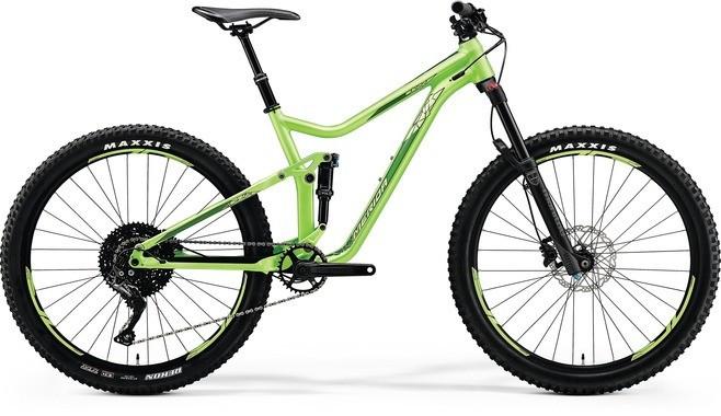 "Двухподвесный велосипед Merida One-Forty 600 2018 рама 15,5"" matt metallic green/shiny green"