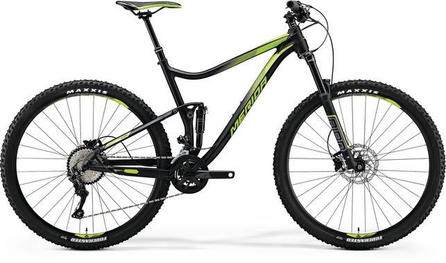 """Двухподвесный велосипед Merida One-Twenty 7.500 2018 рама 16"""" matt black/green"""