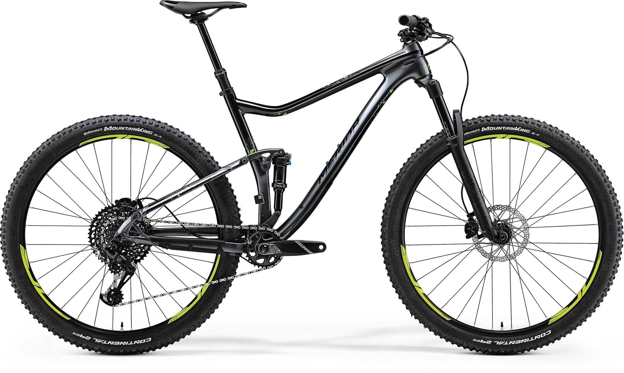 """Двухподвесный велосипед Merida One-Twenty 7.6000 2018 рама 18"""" black/green/dark silver"""