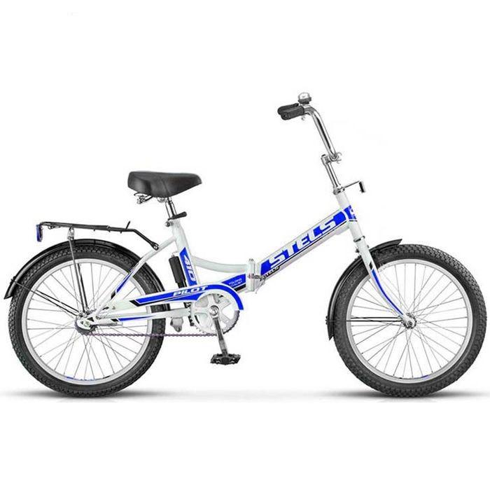 Складной велосипед Stels Pilot-410 2016 белый/синий