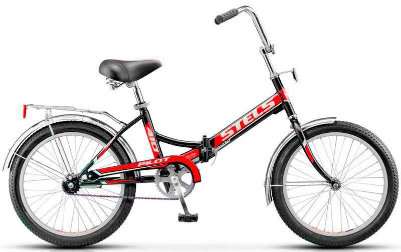 Складной велосипед Stels Pilot-410 2017 Z010 черный/красный