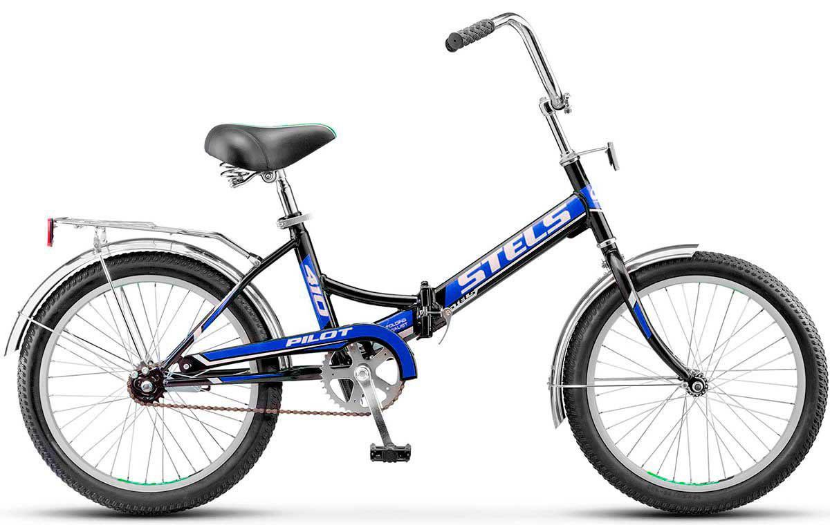 Складной велосипед Stels Pilot-410 2017 Z010 черный/синий