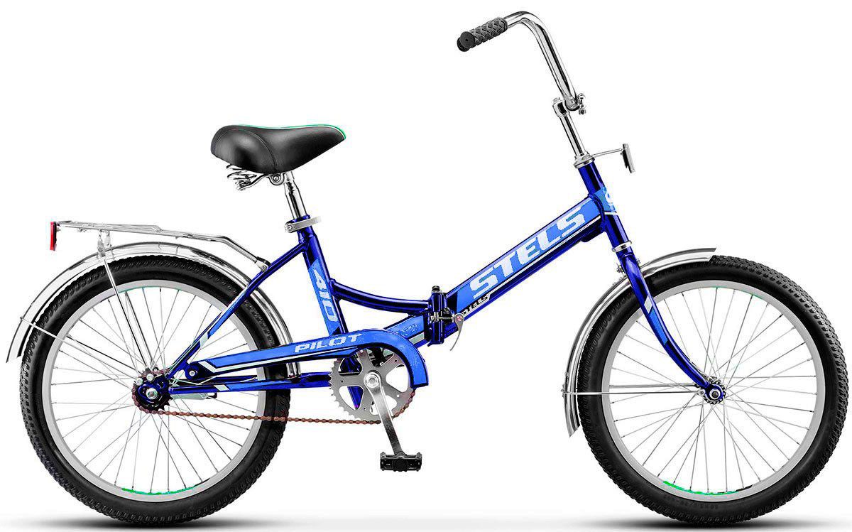 Складной велосипед Stels Pilot-410 2017 Z011 синий