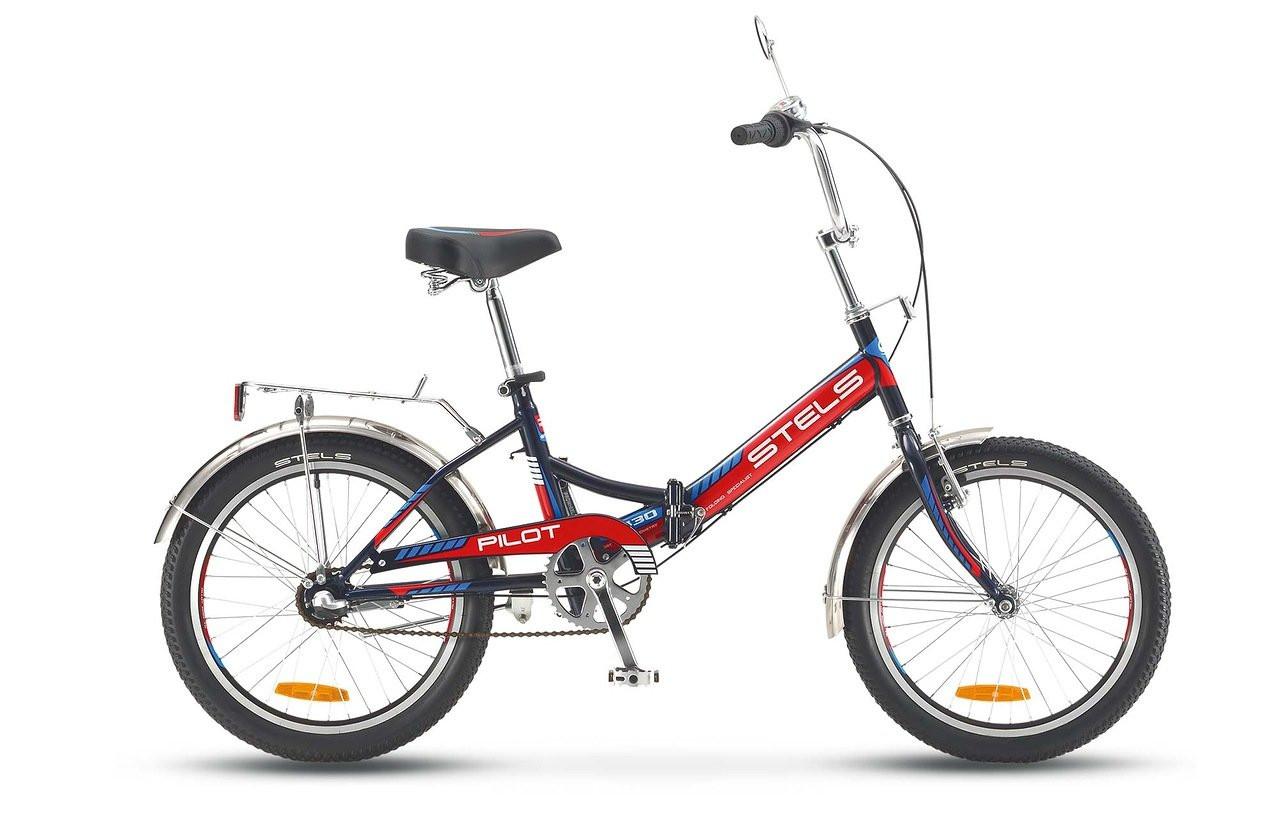 Складной велосипед Stels Pilot-430 2016 V010 черный/красный/синий
