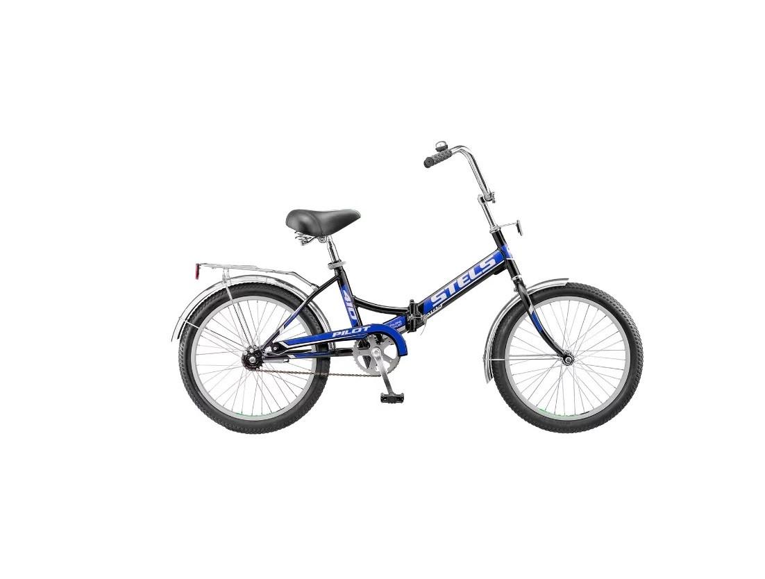 Складной велосипед Stels Pilot-410 2017 Z010 белый/синий