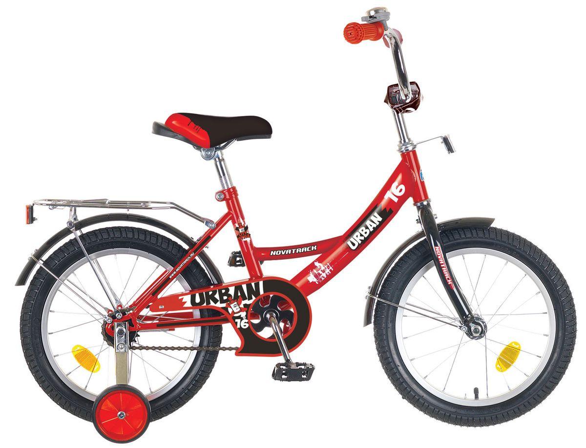 """Детский велосипед Novatrack Urban 2016 18"""" красный"""