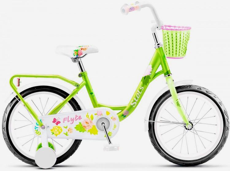 "Детский велосипед Stels Flyte 2018 Z010 18"" зеленый"