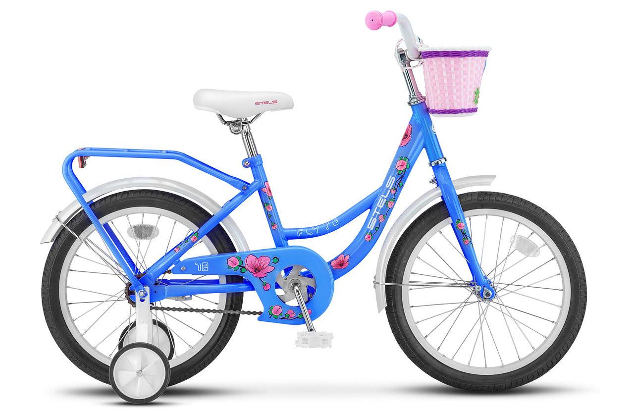 """Детский велосипед Stels Flyte 2018 Z010 18"""" темно-лазурный"""