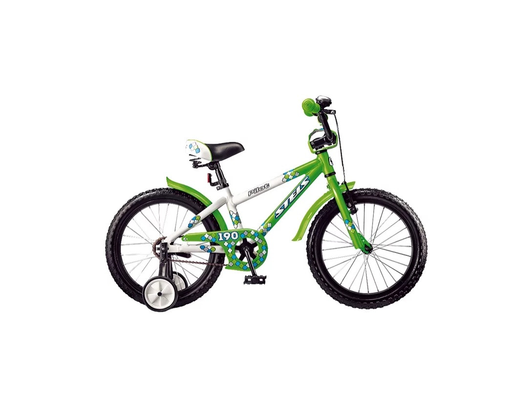 """Детский велосипед Stels Pilot-190 2017 V020 18"""" белый/зеленый"""