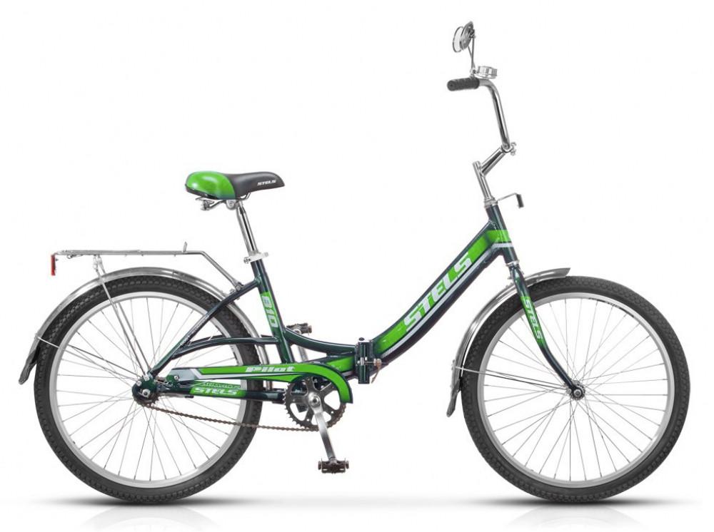 Складной велосипед Stels Pilot-810 2015 темно-зеленый/зеленый