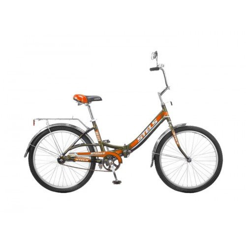 Складной велосипед Stels Pilot-810 2015 темно-серый/оранжевый