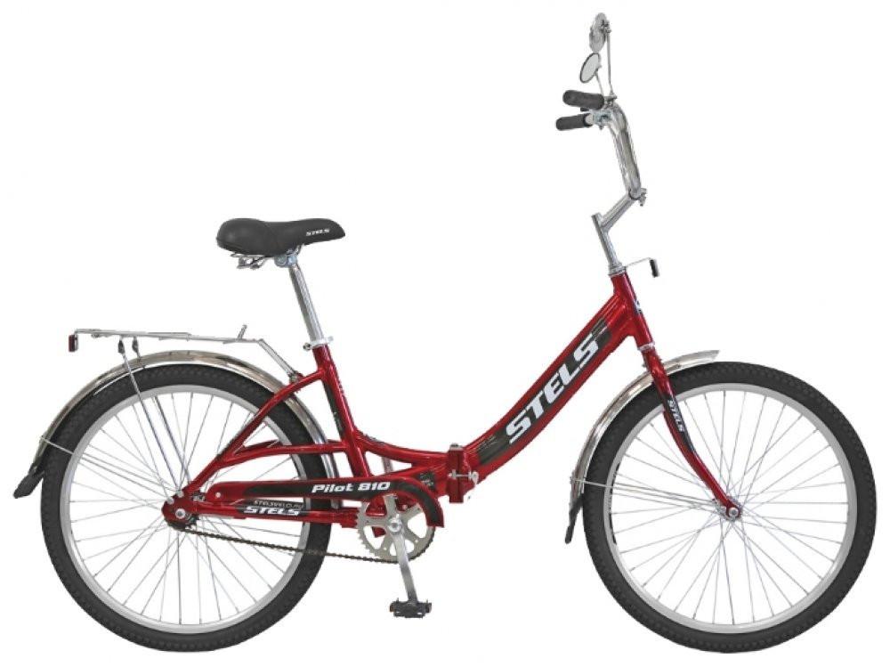 Складной велосипед Stels Pilot-810 2015 черный/красный