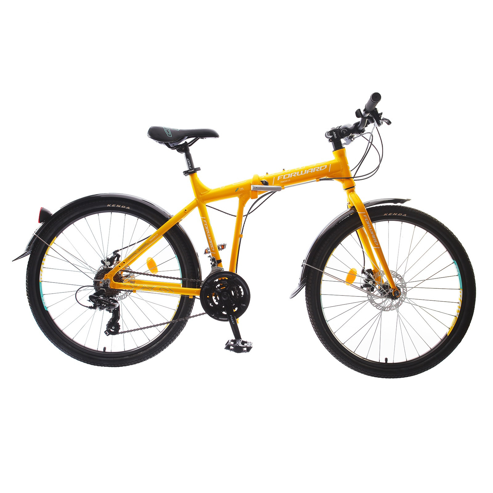Складной велосипед Forward Tracer 2.0 Disc 2017 желтый