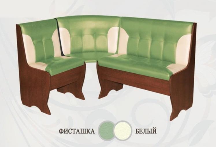 Кухонный уголок Сибирский Двор Олимп Орех / Фисташка / Белый