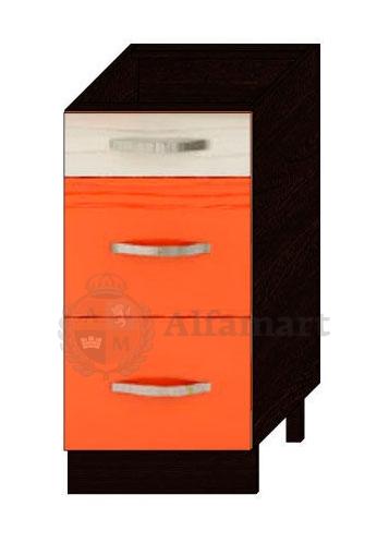 Стол с 3 ящиками 40 с системой плавного закрывания арт. 09.90