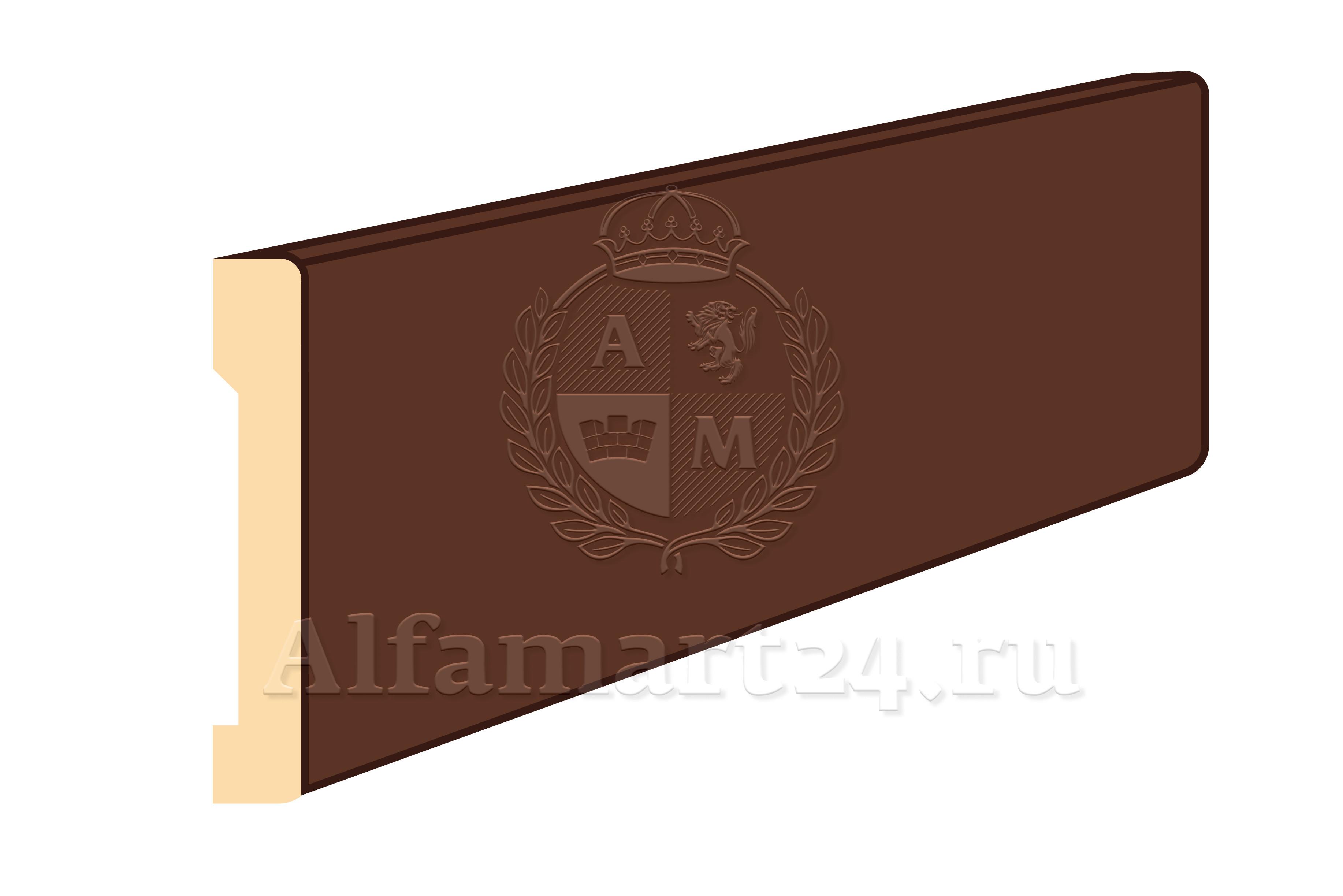 Наличник плоский, полукруглый МДФ 2200x65x10