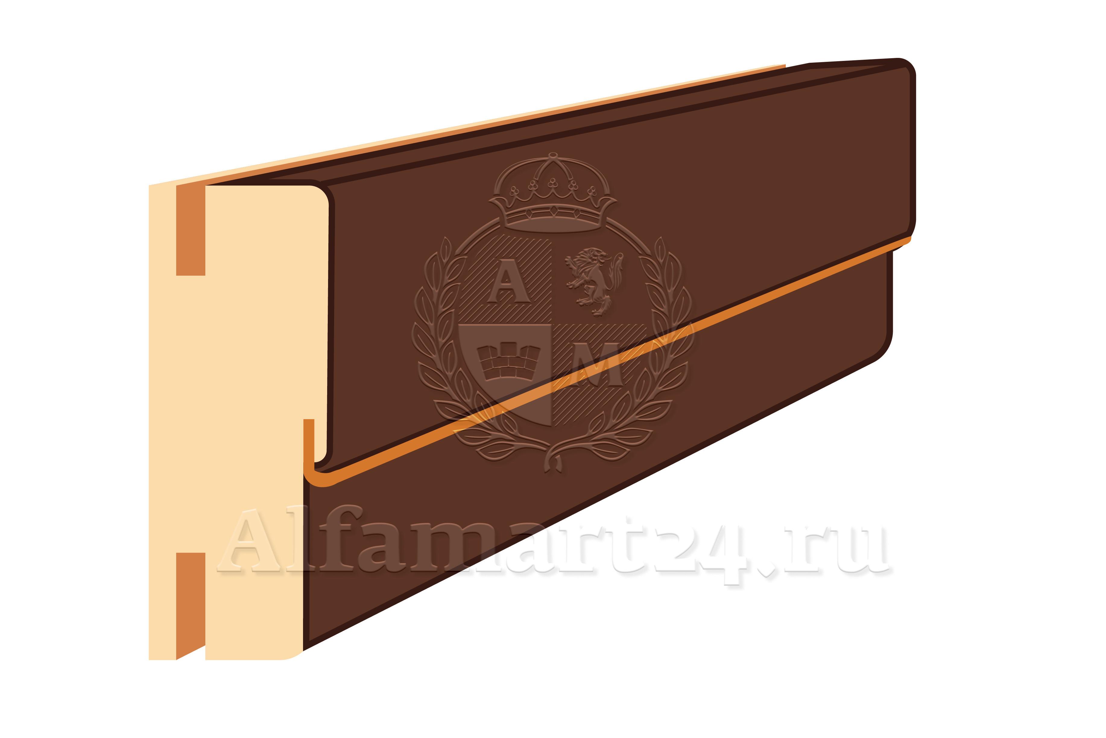 Коробка ТЕЛЕСКОП с уплотнителем 2100x75x35