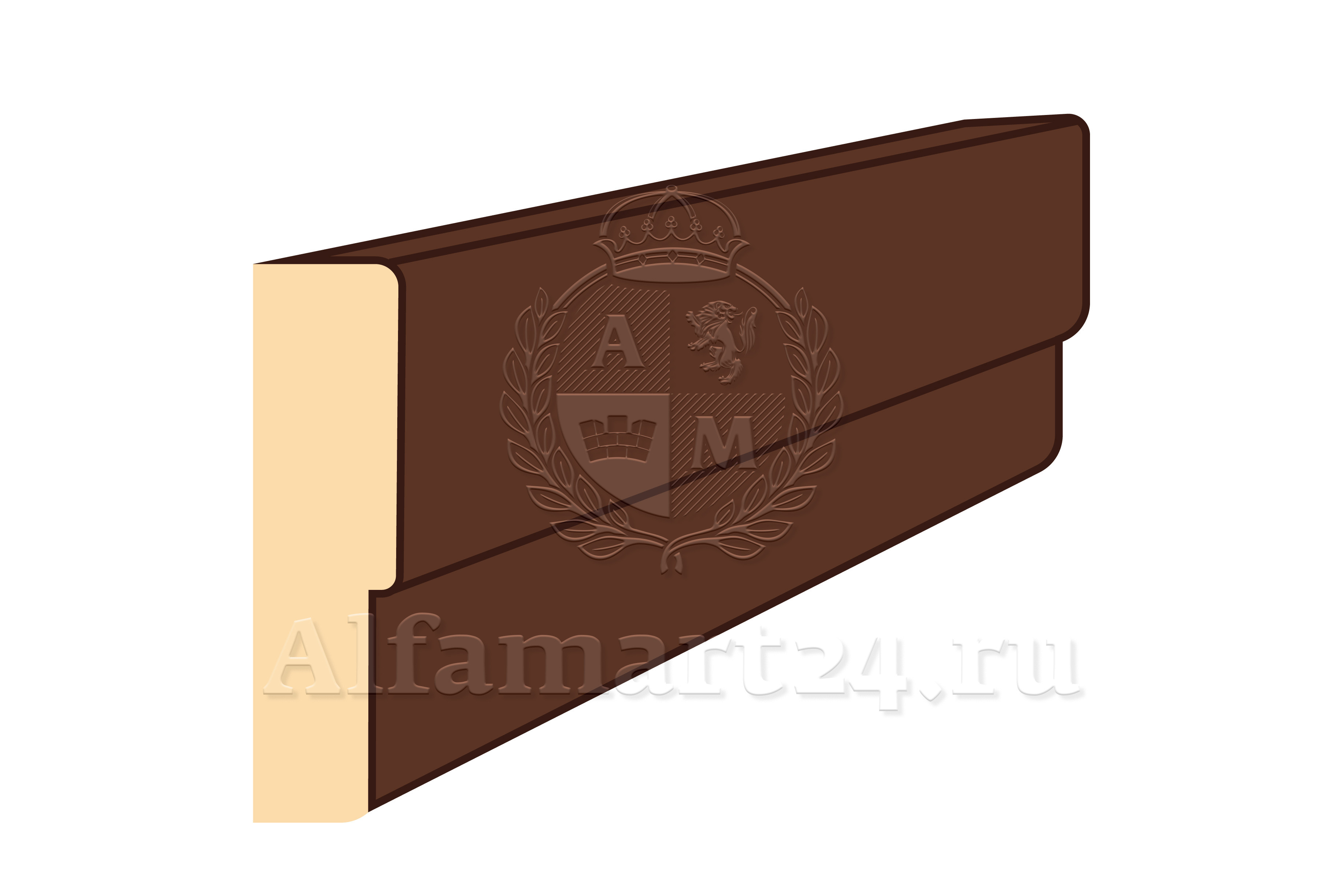 Дверная коробка перекладина М17,4 ламинат белая