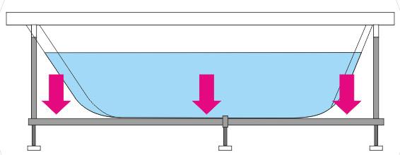 Опора эконом (60см) комплект набор 2 шт