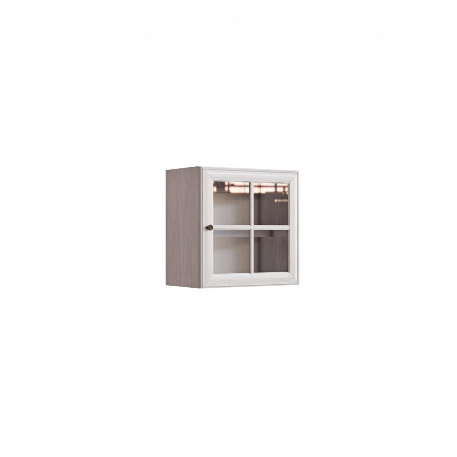 Полка-витрина Гавана СВ-310 Вудлайн кремовый / Дуб беленый