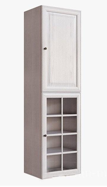 Пенал-витрина Гавана СВ-315/3 Вудлайн кремовый / Дуб беленый
