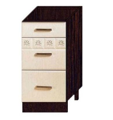 Стол 40 с 3 ящиками (метабоксы) арт. 10.59.2