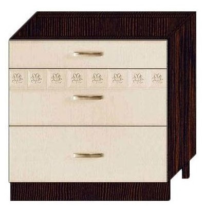 Стол 80 с 3 ящиками (метабоксы) арт. 10.67.2